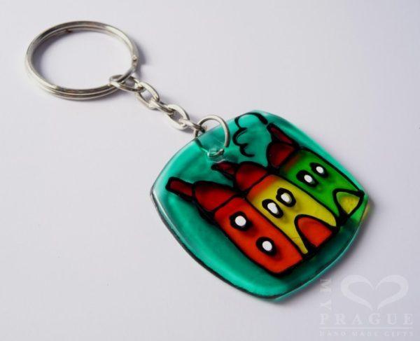 Přívěšek na klíče – domečky