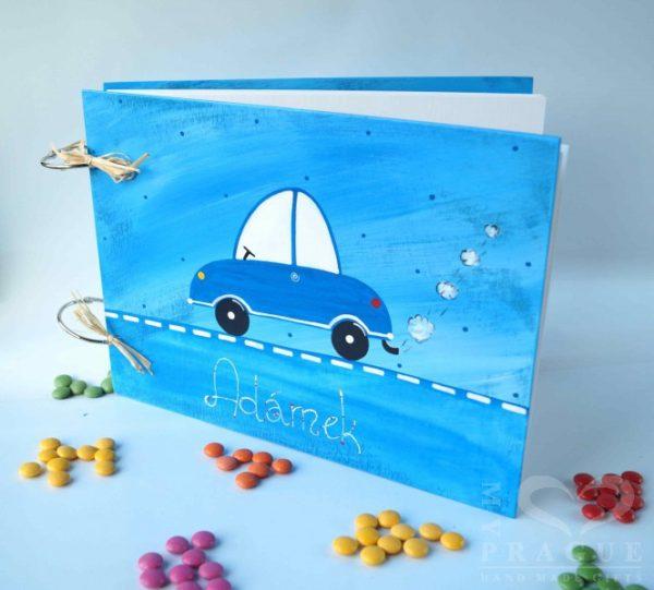 Fotoalbum malé – modré – auto
