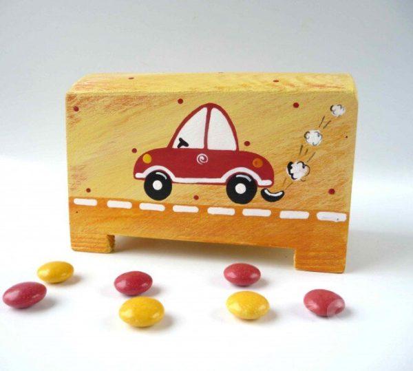 Pokladnička – žlutá – autíčko
