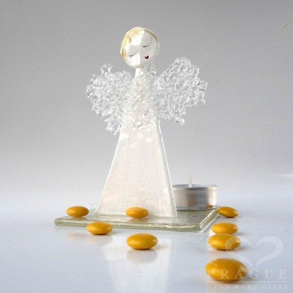 Anděl na čajovou svíčku