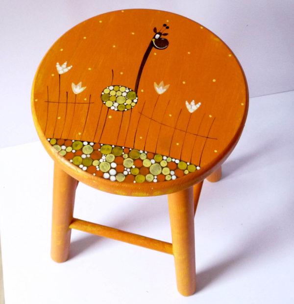 Židlička velká – oranžová – žirafa