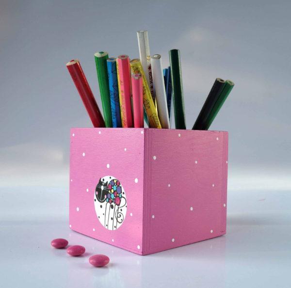 Tužkovník – růžový – kočka v bublině