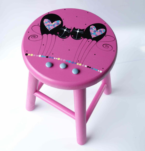 Židlička velká – růžová – kočky