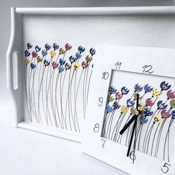 Dárková sada – bílá – tulipány