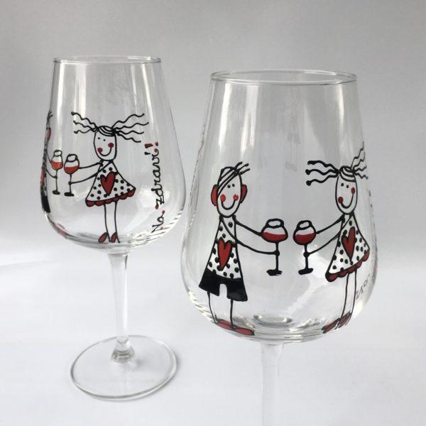 Sada dvou sklenic na víno – Na zdraví!