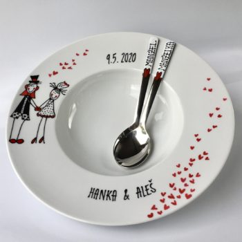 Maxi svatební talíř pro dva II.