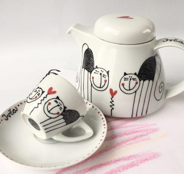 Konvice na čaj nebo kávu – kočičky
